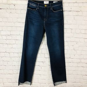 NWOT FRAME Denim Le High Straight Stepped Hem Jean